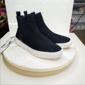 H&M Black Suede Sneaker Boots